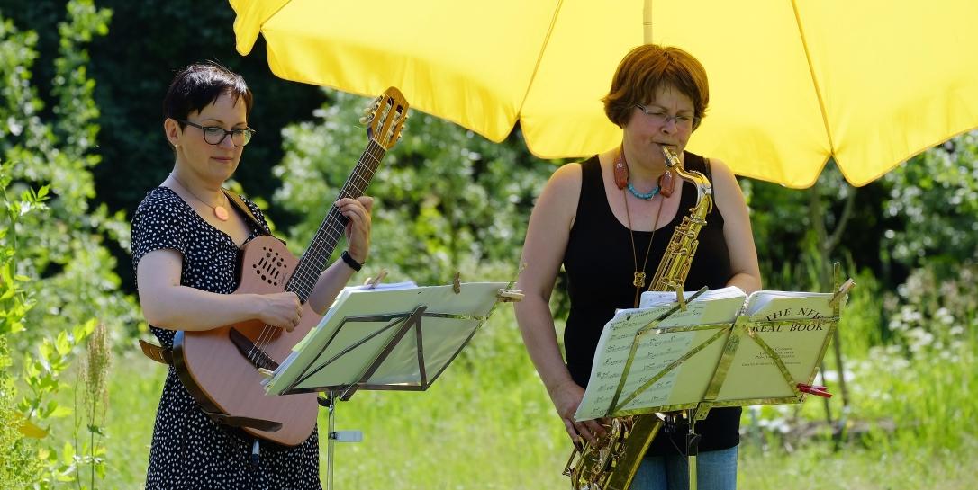 Zu Zweit: Katharina Kaschny und Michaela Baltrusch-Reinert
